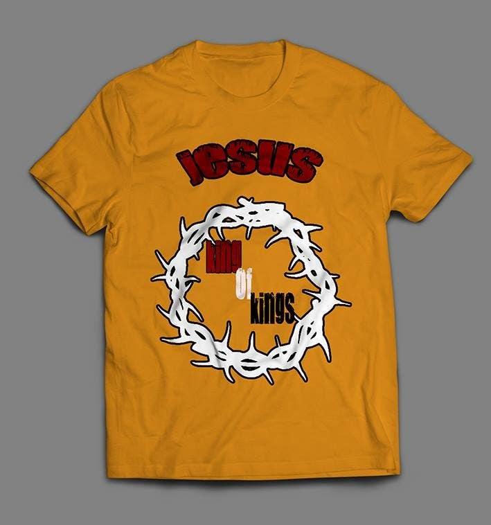 Penyertaan Peraduan #6 untuk Design a T-Shirt for Jesus King of Kings