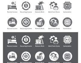 #40 untuk Design 5 icons oleh freelancerthebes