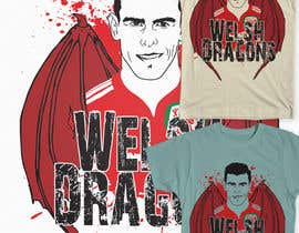 #4 for Design a T-Shirt inspired by Wales Footballers Gareth Bale and Aaron Ramsey Human/Dragon Hybrid af Fayeds