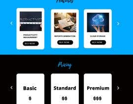 aghaasadali5 tarafından Time-Tracking Software landing page web design için no 8