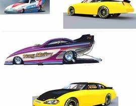#8 for CARTOON PORTRAIT ILLUSTRATION & 3-D CARTOON RACE CAR DESIGN IN NASCAR DESIGN COLOR WRAP by oritosola