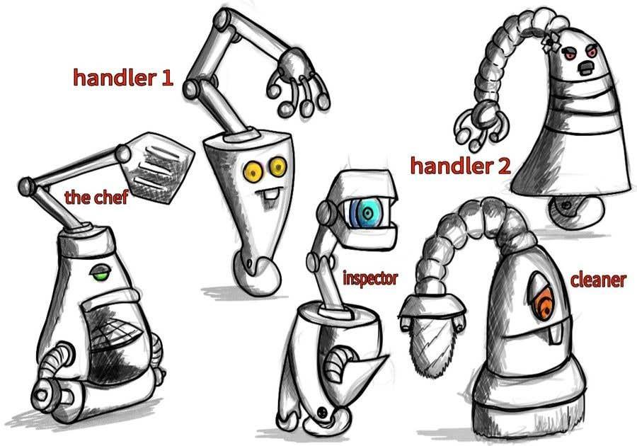 Penyertaan Peraduan #                                        13                                      untuk                                         Draw us 5 goofy robots