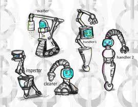 #44 cho Draw us 5 goofy robots bởi GhoneamArt