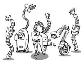 #41 cho Draw us 5 goofy robots bởi Nileshkrlayek