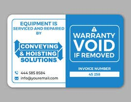 #47 untuk Sticker Design for service/repair of equipment oleh alakram420