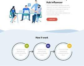 Nro 3 kilpailuun Web page design - Influencers käyttäjältä DARSHAN0896