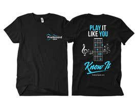 #186 for T-Shirt design for education site for fretted instruments (not just guitar) by Rheanza