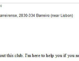 #7 for Find contact details of football teams in Lisbon af brunomaia91