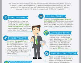 #22 for Infographic about Social Selling Skills & Process: Flat Design by olgakramar