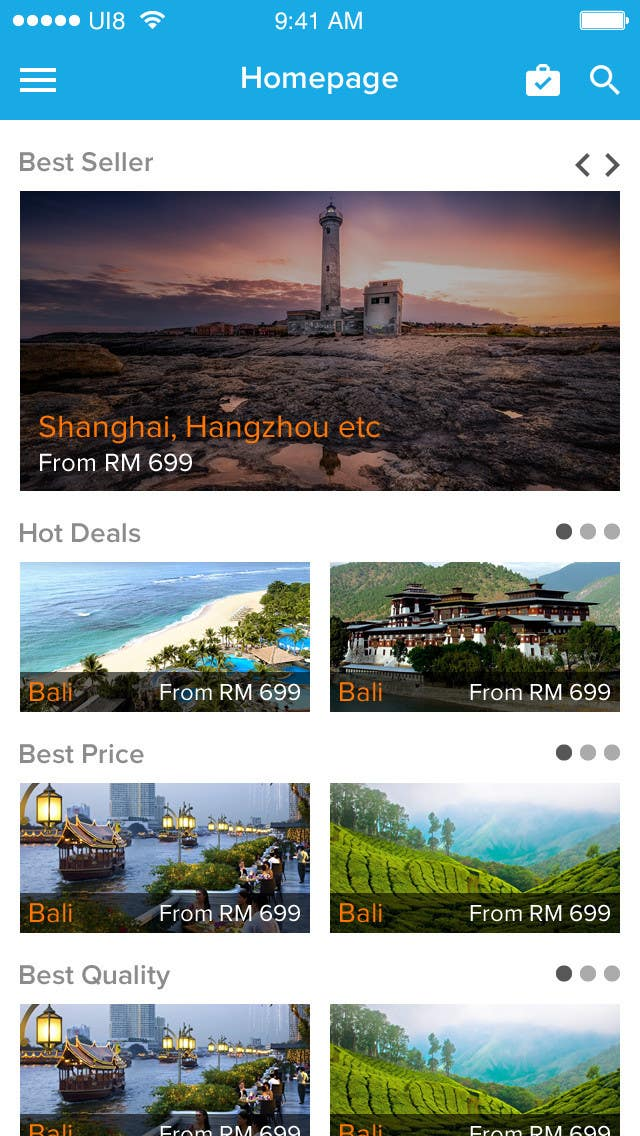 Konkurrenceindlæg #25 for Android App Design for Travel Agency