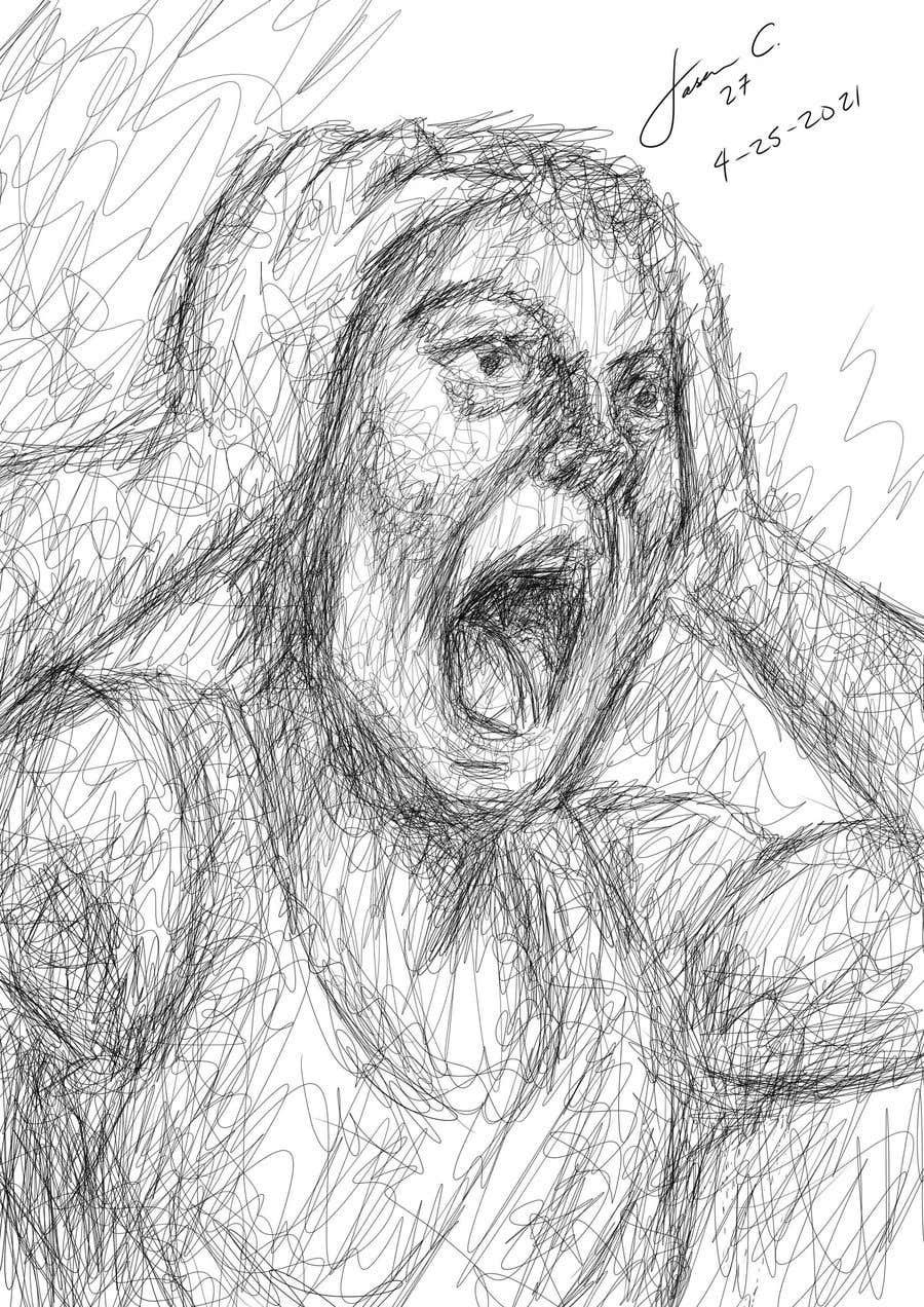 Kilpailutyö #                                        16                                      kilpailussa                                         Scribbled dark art