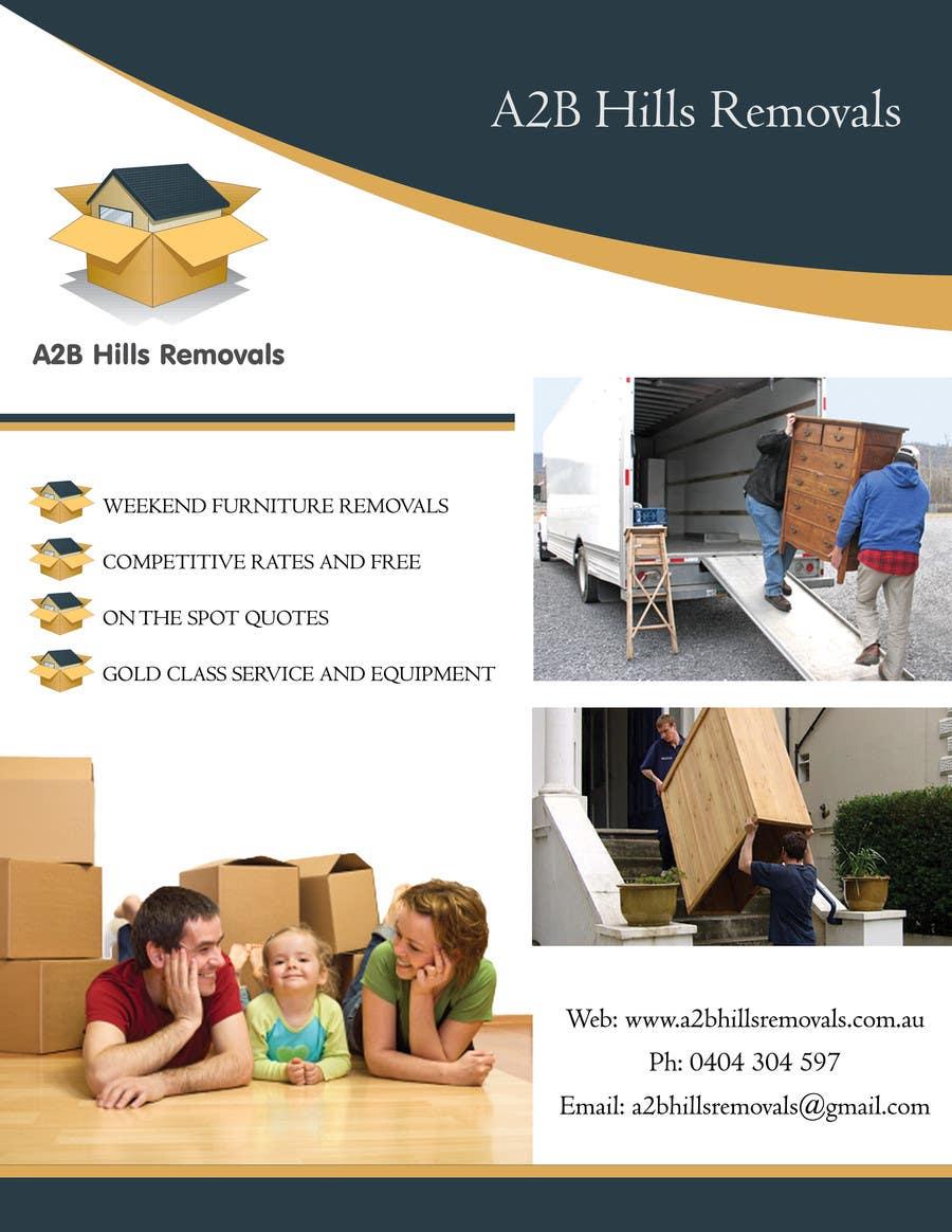 design a flyer for furniture removals company freelancer