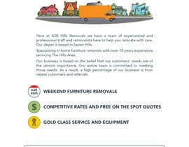 #4 untuk Design a Flyer for Furniture Removals Company oleh rahmounanas