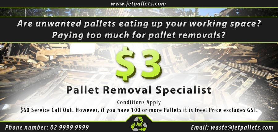 "Contest Entry #                                        7                                      for                                         Design a Flyer for ""Jet Pallets"""