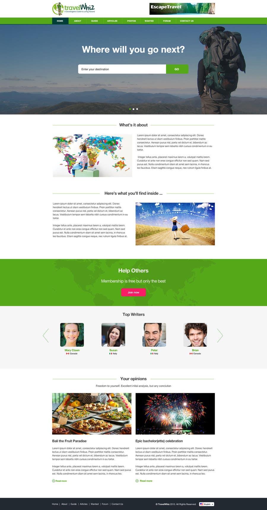 Konkurrenceindlæg #                                        25                                      for                                         Design a Website Mockup for TW