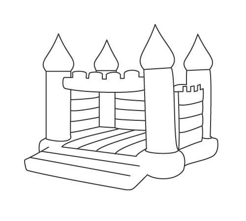 Bouncy Castle Coloring Pages