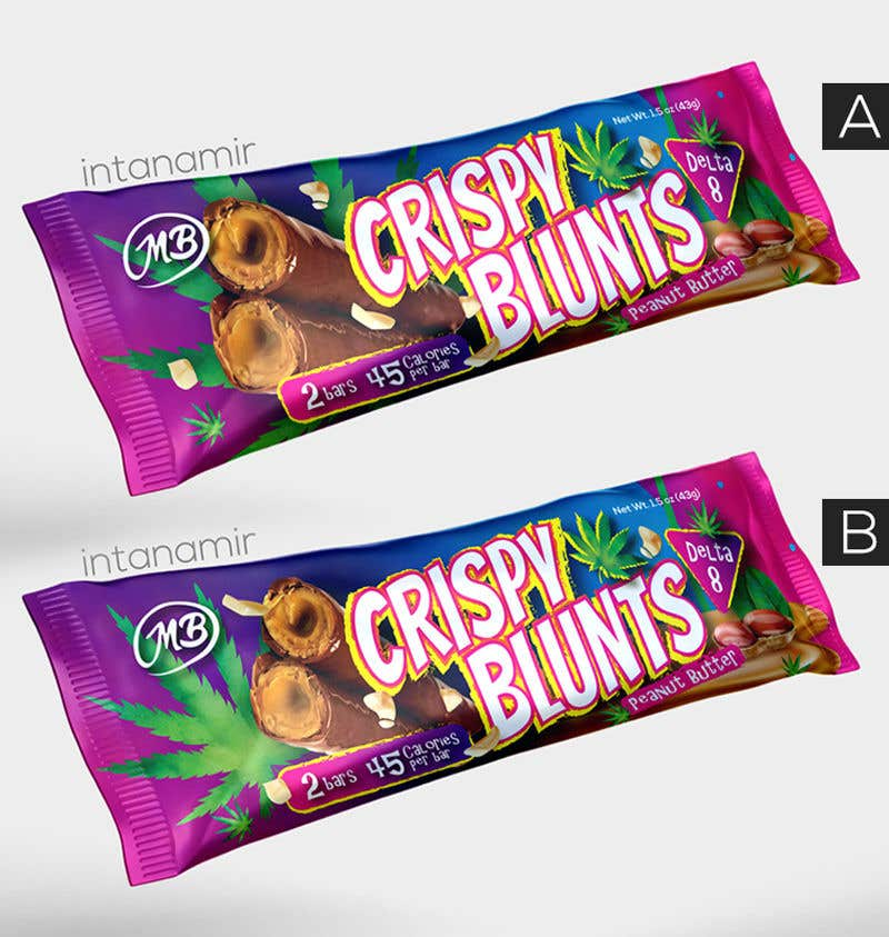 """Contest Entry #                                        55                                      for                                         design package wrapper metallic film for """"crispy blunts"""""""