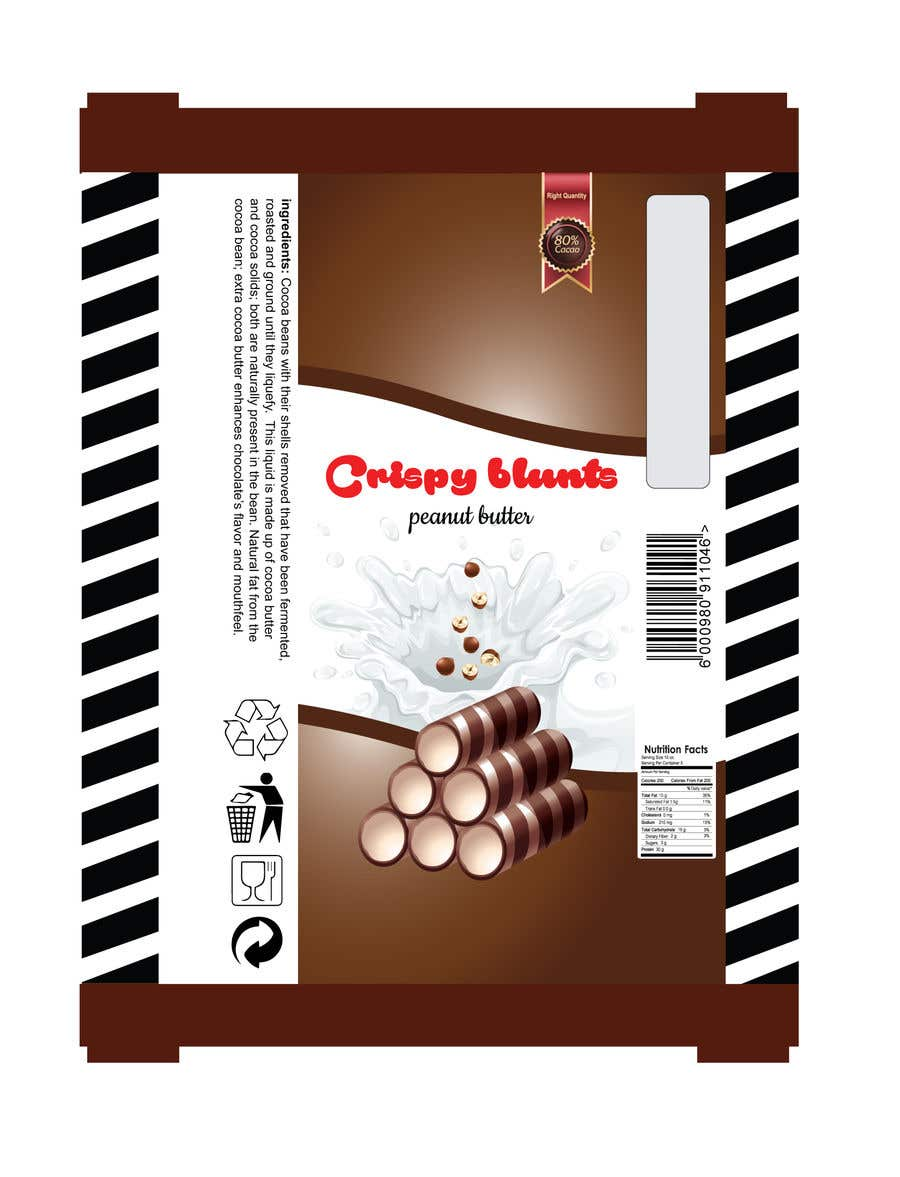 """Contest Entry #                                        25                                      for                                         design package wrapper metallic film for """"crispy blunts"""""""