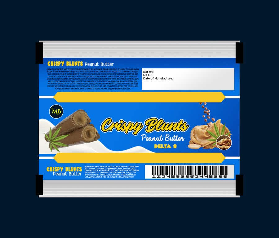 """Contest Entry #                                        32                                      for                                         design package wrapper metallic film for """"crispy blunts"""""""