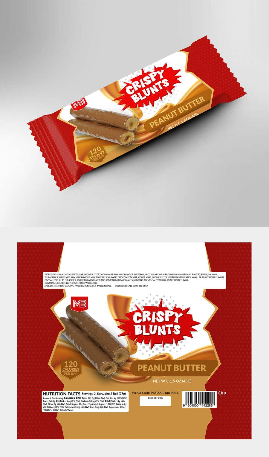 """Contest Entry #                                        23                                      for                                         design package wrapper metallic film for """"crispy blunts"""""""