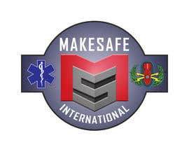 nº 31 pour MakeSafe International Non Profit Casualty Extraction and Explosive Ordnance Disposal service logo contest par fingerburns