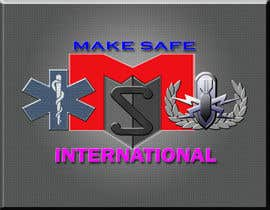 nº 44 pour MakeSafe International Non Profit Casualty Extraction and Explosive Ordnance Disposal service logo contest par nazrulislam277