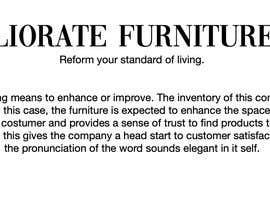 #186 cho Furniture Shop Branding bởi arielamador23