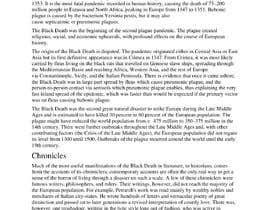 Nro 30 kilpailuun Write a short story set at the years of the Black Death pandemic käyttäjältä mdshc03