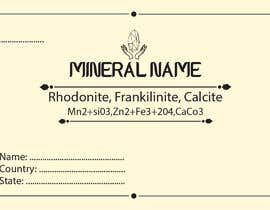 #105 cho I need a simple template for a mineral label which is like a business card like card for identifying minerals like a name-tag bởi abubakrenvt