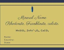 #97 cho I need a simple template for a mineral label which is like a business card like card for identifying minerals like a name-tag bởi RafiaZahid19