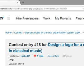 #19 untuk Design a logo for a music organisation system (specialising in classical music) oleh vasked71