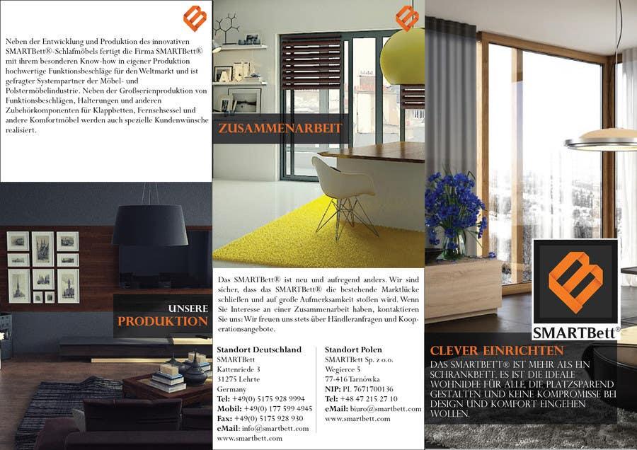 Kilpailutyö #2 kilpailussa Design eines Flyer for Smartbett/ Fold-away beds smartbett.com