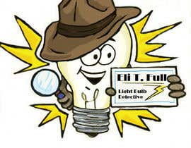 "#46 untuk Cartoon Character of a ""Light Bulb Detective"" oleh vcocking"