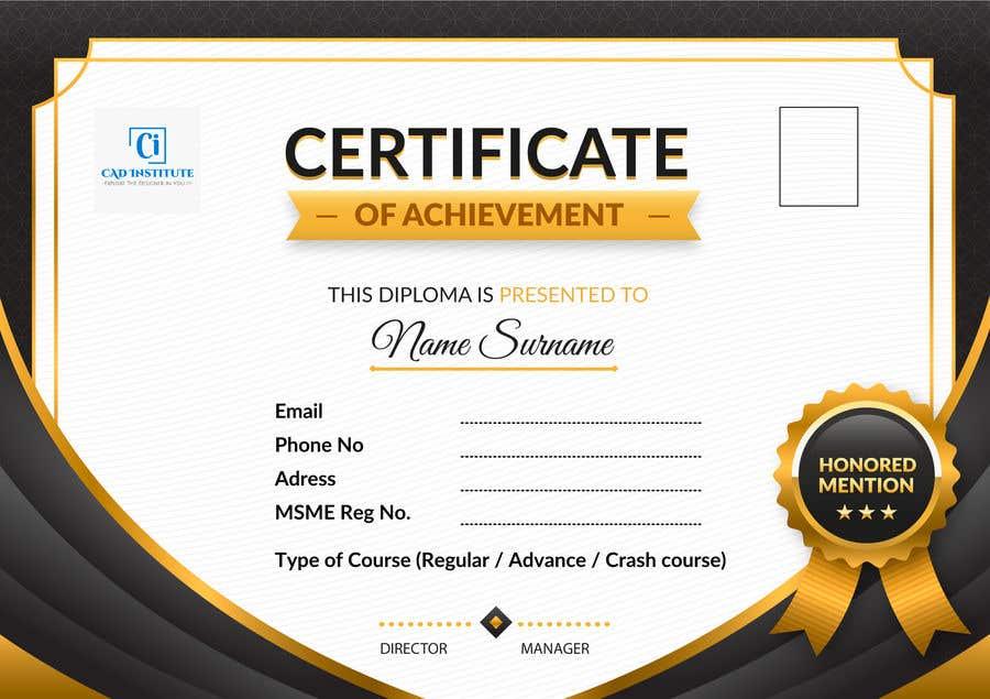 Konkurrenceindlæg #                                        22                                      for                                         Design 2 Certificates & 1 Marksheet format (for both Digital Certification & Hard Copy)
