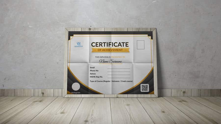 Konkurrenceindlæg #                                        25                                      for                                         Design 2 Certificates & 1 Marksheet format (for both Digital Certification & Hard Copy)