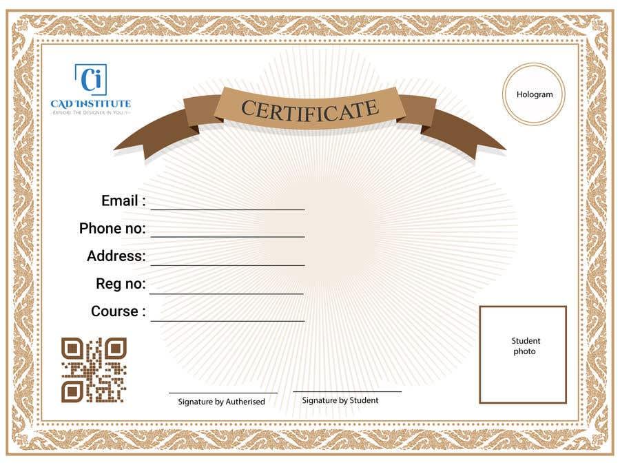Konkurrenceindlæg #                                        3                                      for                                         Design 2 Certificates & 1 Marksheet format (for both Digital Certification & Hard Copy)