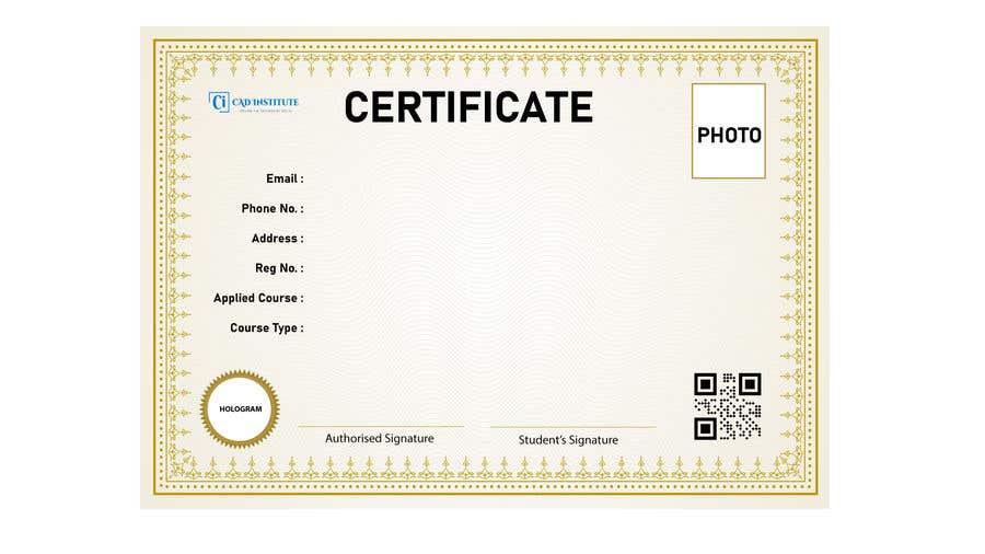 Konkurrenceindlæg #                                        13                                      for                                         Design 2 Certificates & 1 Marksheet format (for both Digital Certification & Hard Copy)