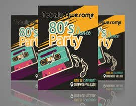 #193 for 80s  Dance Party invitation/flyer by TheCloudDigital