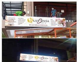 #137 untuk Design an store overhead signage for a Salon and Spa oleh hadildafirenz