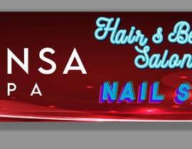 #138 untuk Design an store overhead signage for a Salon and Spa oleh joyantabanik8881