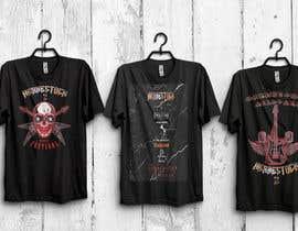 NilanjonaBhowmik tarafından Create a Design for rock / metal festival t shirt için no 34