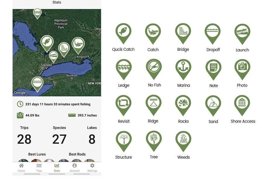 Penyertaan Peraduan #                                        7                                      untuk                                         Design map markers for the following features