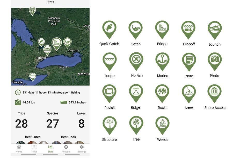 Penyertaan Peraduan #                                        14                                      untuk                                         Design map markers for the following features