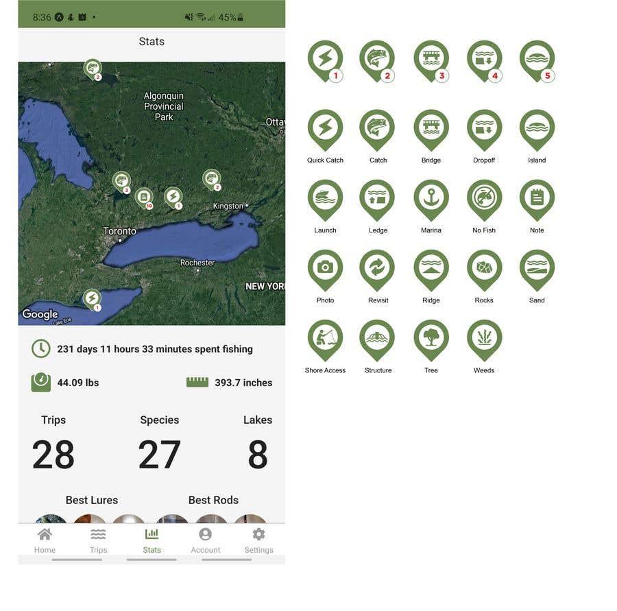 Penyertaan Peraduan #                                        3                                      untuk                                         Design map markers for the following features