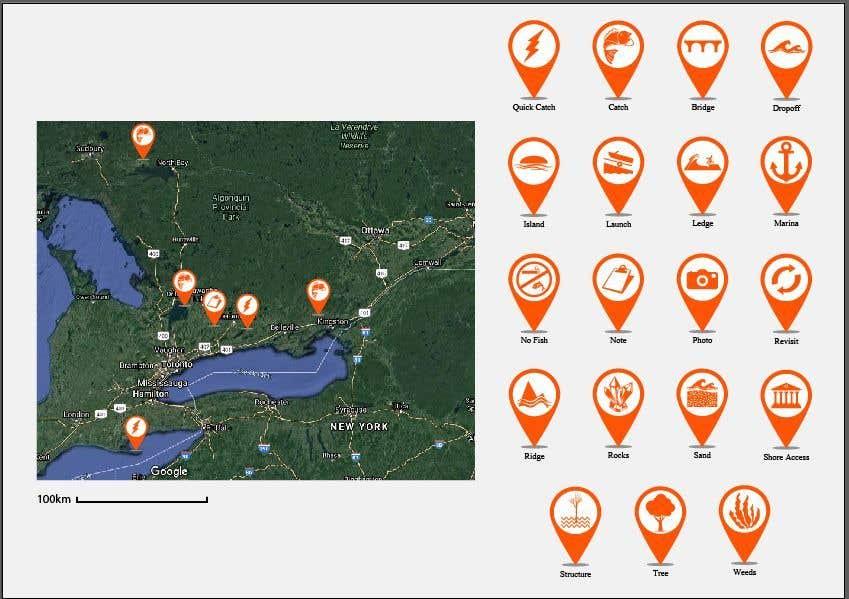 Penyertaan Peraduan #                                        9                                      untuk                                         Design map markers for the following features
