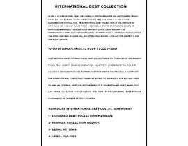 #25 untuk Business article about international debt collection oleh AbodySamy