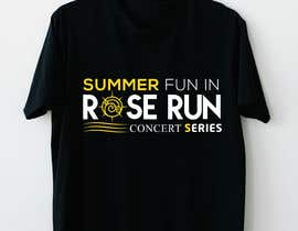 #171 for Summer Fun Rose Run Concert Series Logo for Tee shirts by rockmubbi