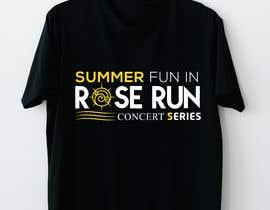 #171 untuk Summer Fun Rose Run Concert Series Logo for Tee shirts oleh rockmubbi