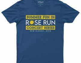 #159 untuk Summer Fun Rose Run Concert Series Logo for Tee shirts oleh MariaAkter17th
