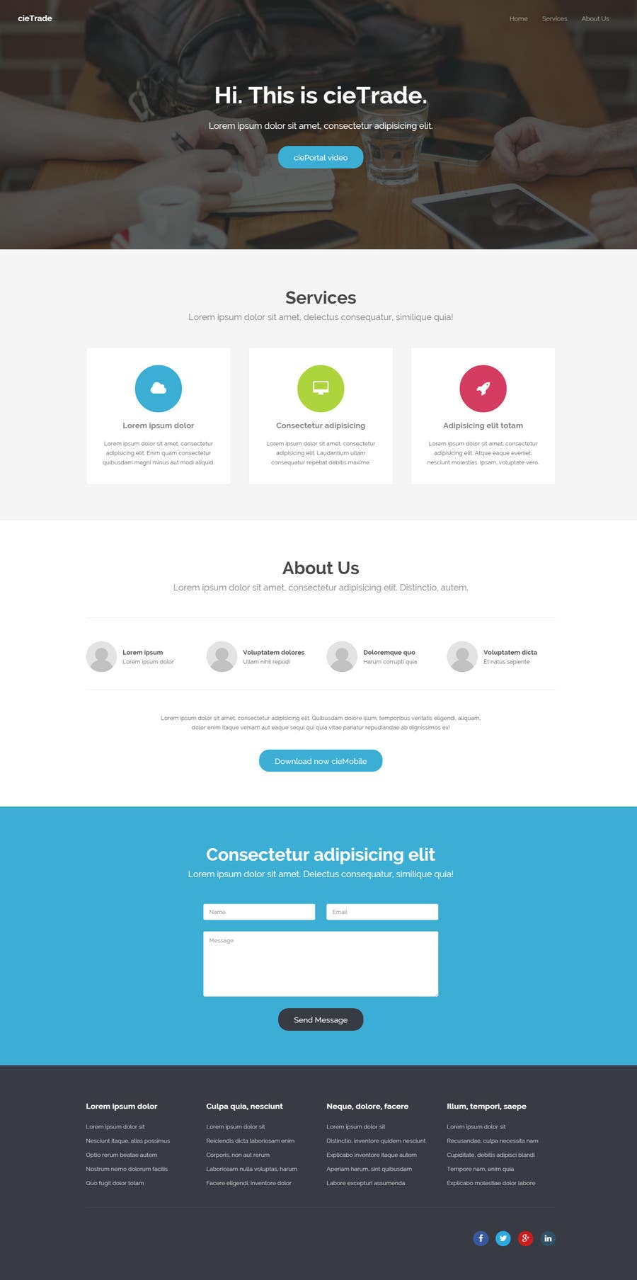 Proposition n°                                        7                                      du concours                                         Webpage design for software company